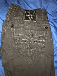 All black rock revival jeans size 32. 200 OBO Kansas City, 64151