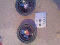 """MTX 10"""" subs /with audiocontrol"""