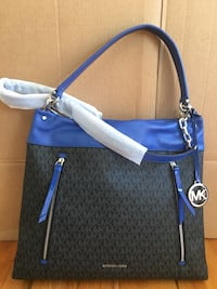 NWT! Michael Kors Lex Large Convertible Hobo Bag Black/ Electric Blue Falls Church, 22043