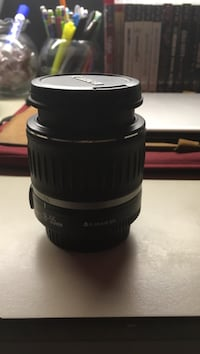 18-55mm black Canon DSLR camera lens