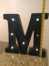 """""""M"""" Metal Marquee Light West Hollywood, 90069"""