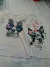 2 girls Justice tees. Size 10