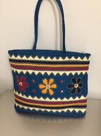 blue, yellow, and red floral crossbody bag Whitby, L1P