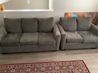 Sofa-bed and love-seat set. The Brick like a new one