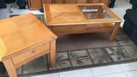 Wood coffee table w/ matching end table. Both have drawers! Lake Worth, 33463