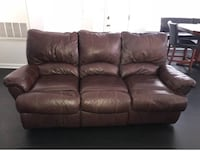 Brown leather cushioned couch Upper Marlboro, 20772