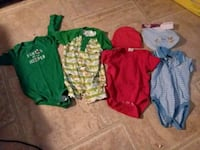 All 4 out fits and 1pk bibs  all 12mts Houma, 70364