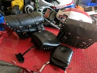 Leather saddlebags /Leather seat & rest/ HD Bagbar Hagersville, N0A 1H0