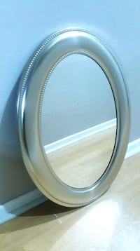 round black wooden framed mirror Mississauga, L5A 3R1
