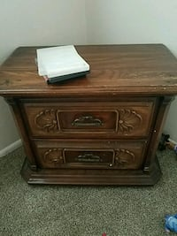 brown wooden 2-drawer nightstand Lawrence, 66049