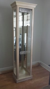 white wooden framed glass display cabinet Tampa, 33624