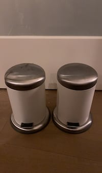 Two Small IKEA Trash Cans