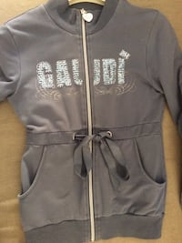 Grigio Gaudi stampato zip-up giacca