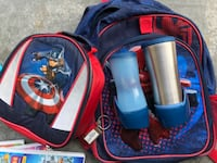 super hero back pack and lunch kit LANGLEY