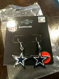 Dallas Cowboy Logo Earrings Lexington Park, 20653