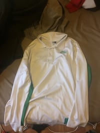 White and green Nike long-sleveed basket warm up top Fredericton, E3B 4C3