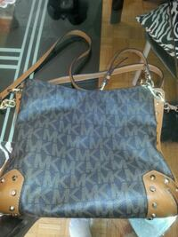 blue and brown Michael Kors leather tote bag Mississauga, L5K 1B6