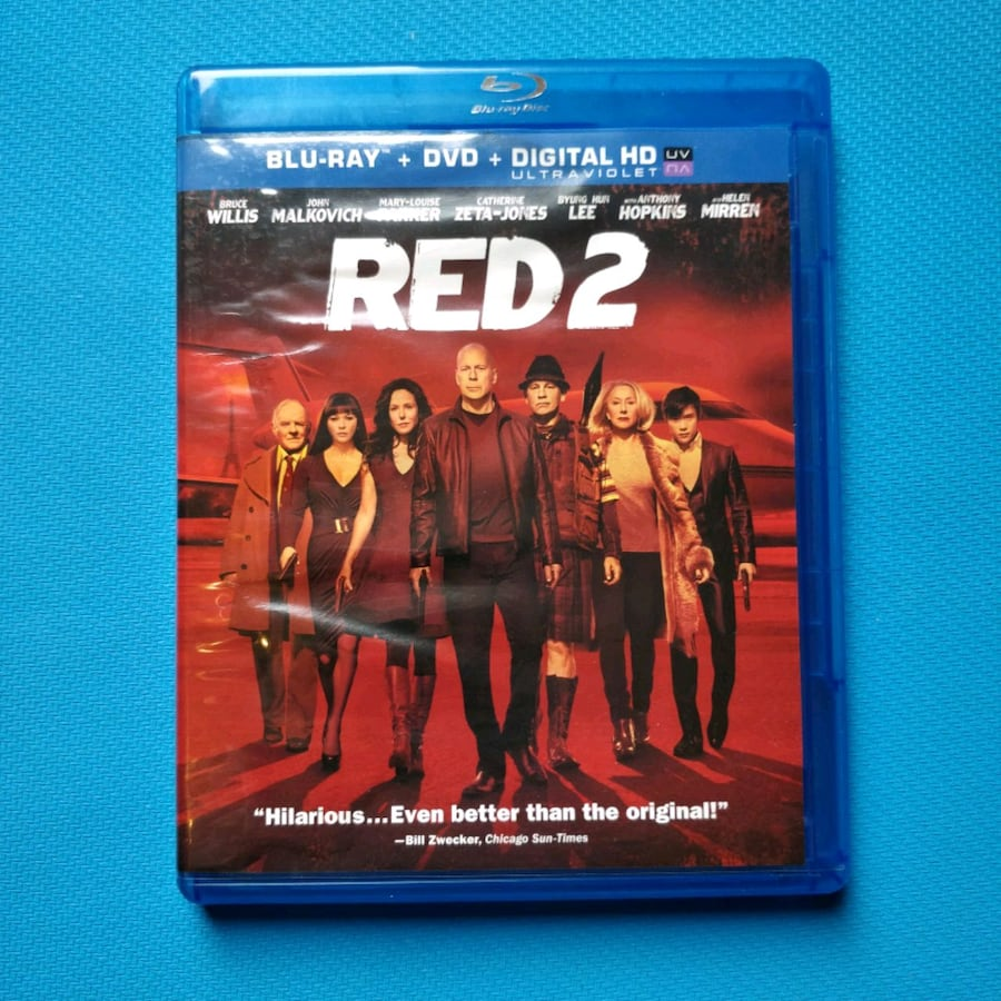 Red 2 Movie Blu-Ray & DVD