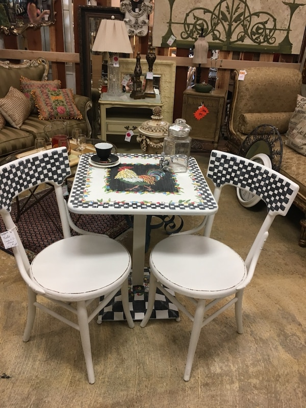 Rooster Table And Chairs Set