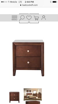 brown wooden 2-drawer nightstand West Palm Beach, 33406