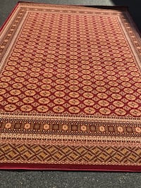 new large size Area rug size 8x11 nice red carpet Persian Bokhara styl Burke, 22015