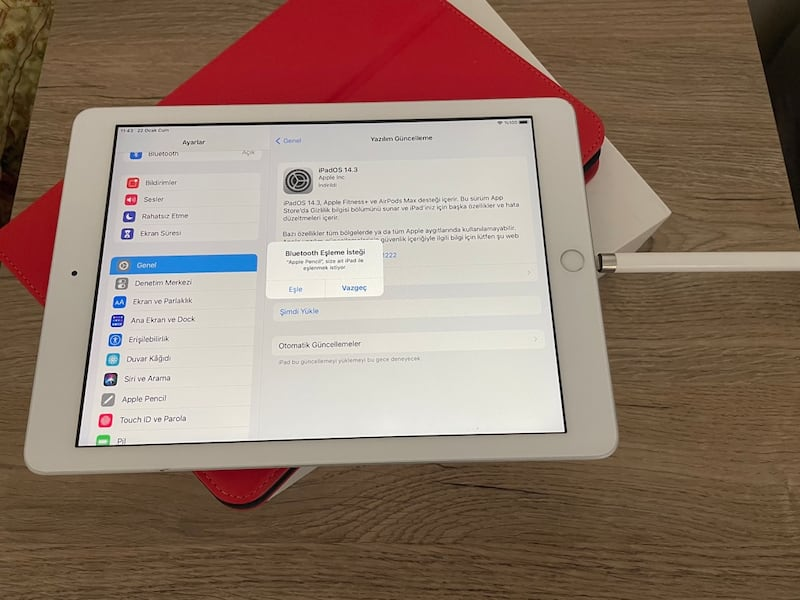 ipad 6 + apple pencil + targus kılıf 48c842ec-0a20-4e02-add6-766680f451ac