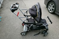 baby's black and gray stroller Markham, L6B 1G4