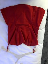 Woman's red boustier size 4