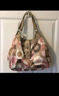 brown and beige Coach leather shoulder bag Sunnyvale, 94085
