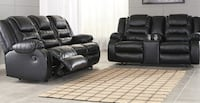 Vacherie Black OR CHOCOLATE  Reclining Sofa & Double Loveseat Baltimore
