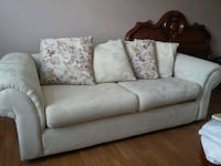 Ivory fabric sofa and chair