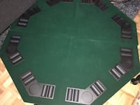 Portable poker table board (foldable, 2 pieces with bag) Toronto, M3A 3A1