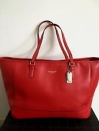 Authentic coach tote, expensive scratch proof leather Toronto, M1B