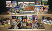 VCR WITH 40 DISNEY/KIDS MOVIES Tulare, 93274