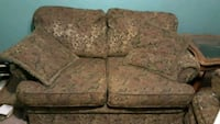 brown and gray floral fabric 2-seat sofa Vinton, 24179