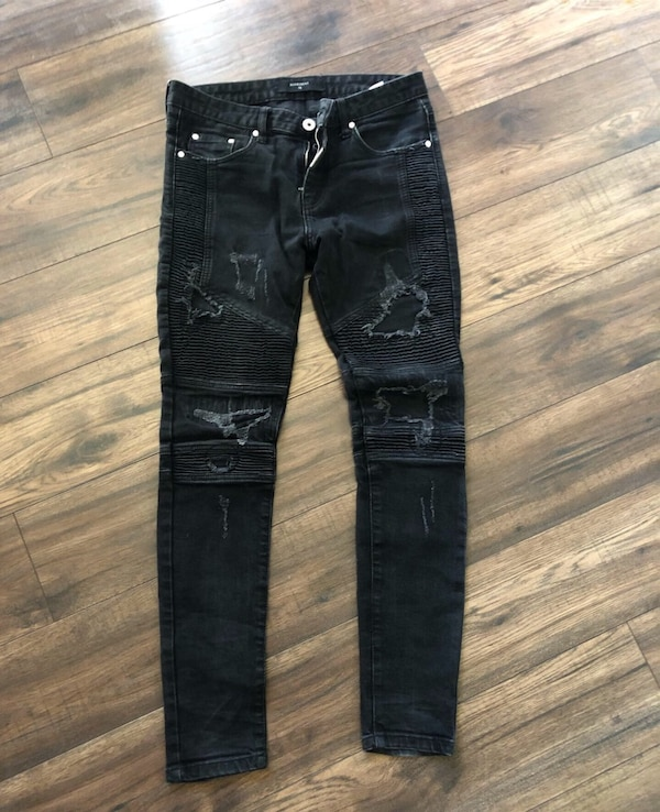 Represent True Black Biker Denim Jeans 0