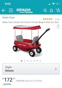 Brand New Radio Flyer Deluxe All-Terrain Wagon Chevy Chase Section Three, 20815