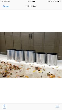 stainless steel flower pots ( 90 each)or 400 for 5 545 km