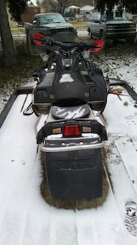 black and grey snowmobile Portage, 46368