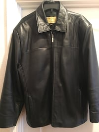 Men's Solid Black Leather Jacket - size L Alameda, 94502