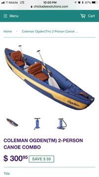 blue and white inflatable boat Houston, 77373