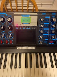 Black Moog voyager special electric blue edition New York, 10012