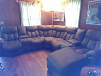 Light brown leather sectional