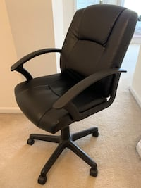 Adjustable leather desk chair