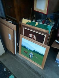 brown wooden TV hutch with flat screen television Camp Hill, 17011