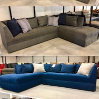blue and white sectional couch Boca Raton, 33431