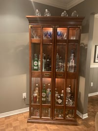Glass bar hutch