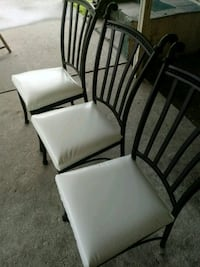 two white leather padded chairs Houma, 70364