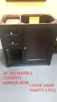 black wooden 2-door cabinet