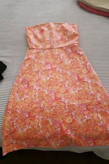 Strapless floral dress from RW&CO size 6
